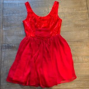 Free People Red Holiday dress